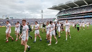 Tyrone players trod off the Croke Park turf after their humbling by Dublin