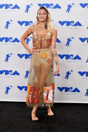 Paris Jackson ditched her shoes and rocked a sheer Dior dress with white boxers.