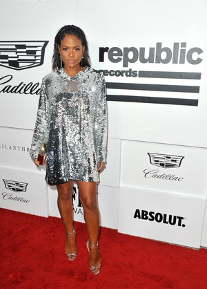 Christina Millian sparkled in sequins on the red carpet.