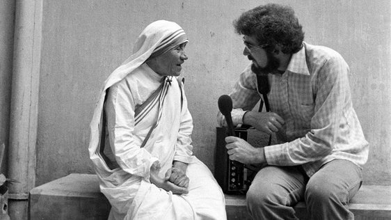 Mother Teresa and Jim Fahy in India