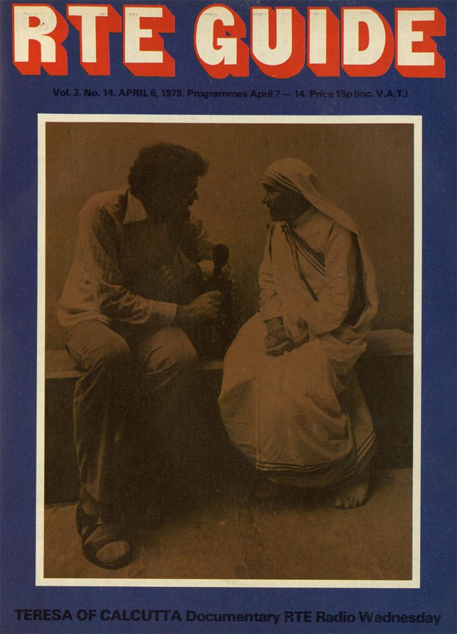 Mother Teresa and Jim Fahy on the cover of the RTÉ Guide, 6 April 1979