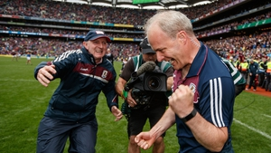 Micheál Donoghue after the All-Ireland hurling semi-final win over Tipperary