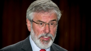 Gerry Adams also wants a referendum on Irish unity within five years.