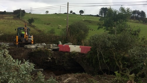 Donegal County Council have been preparing for the arrival of the bridge in recent days