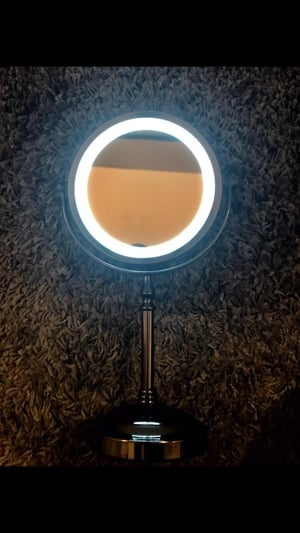 LED Mirror - an absolute must when trying to get festival ready in the back of a tent.