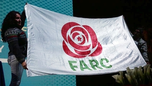 The new logo of the civilian political party of Colombia's disarmed Revolutionary Armed Forces (FARC)