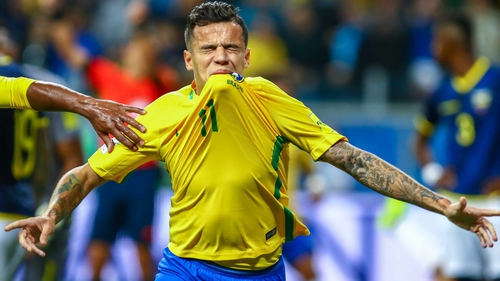 7abd9a50d The Brazil playmaker arrived at Barcelona with a thigh injury