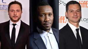 The True Detective 3 team - Writer-director Nic Pizzolatto, star Mahershala Ali and director Jeremy Saulnier