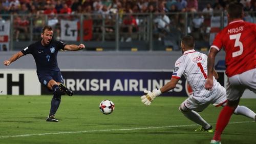Harry Kane fires home England's opener