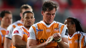 Cheetahs' Henco Venter dejected after their loss