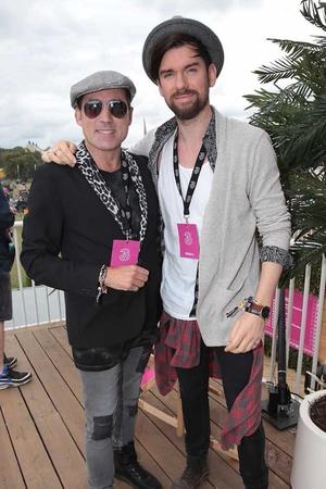Julian Benson and 2fm DJ Eoghan McDermott ©Brian McEvoy