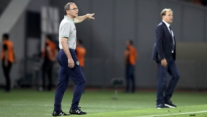 Martin O'Neill on the touchline in Tbilisi