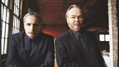 Walter Becker right) with Donald Fagen, Steely Dan's founding members