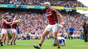 Galway's Joe Canning celebrates at the final whistle