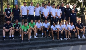 The Irish squad before their departure to Baku