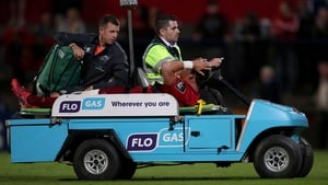Dan Goggin leaves the field in the second half of Munster's defeat of Treviso