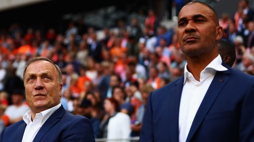 Ruud Gullit (R) with Dick Avocaat