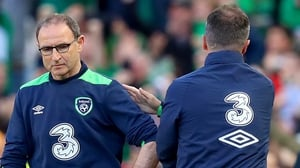 Martin O'Neill (L) with Roy Keane