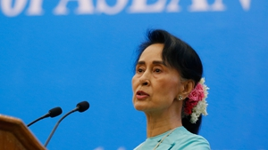 """Aung San Suu Kyi has said that """"misinformation"""" about the crisis is being used to promote """"the interest of the terrorists"""""""