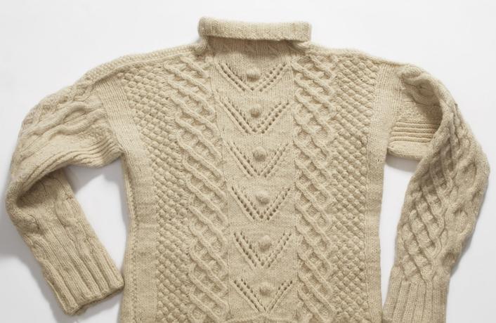 The Aran jumper, an iconic fashion item