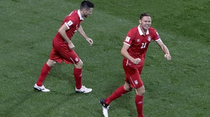 Nemanja Matic after Serbia's goal