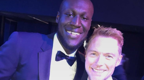 """Stormzy at GQ Awards: """"In a room full of so many legends, I got a selfie with Ronan Keating, are you mad?"""""""
