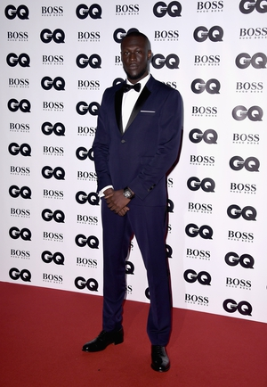 Solo Artist of the Year winner Stormzy wore a beautiful blue Burberry tux with black lapels and bow tie.