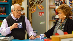 Norris pictured with Rita in the Kabin