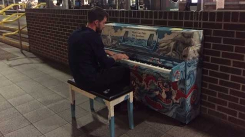The piano was installed at the station in Dublin city centre in 2017
