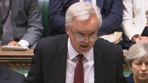 David Davis was speaking during Brexit questions in the House of Commons