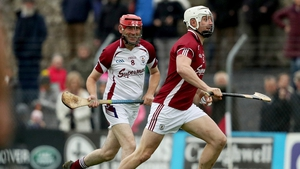 Michael Coleman pursues Joe Canning in tonight's match in aid of Tony Keady
