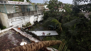 Wreckage in the vicinity of the Santurce neighborhood in the aftermath of Hurricane Irma, in San Juan, Puerto Rico