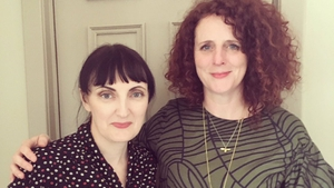Book Show host Sinead Geeson (left) with author Maggie O'Farrell, who features in the first edition of the new season.