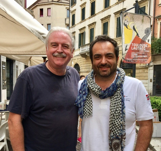 On a narrow side street over a sparkling water, Marty meets tenor Jean luca Terranova.