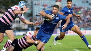 Rob Kearney limped out of the game with a hamstring injury