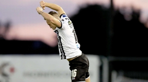 Dundalk's Dylan Connolly celebrates scoring his side's second goal