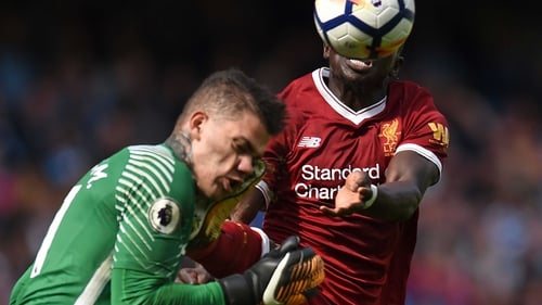 Ederson needed eight minutes of treatment on the field
