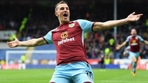 Chris Wood celebrates his goal
