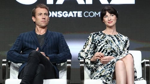 Tobias Menzies and Caitriona Balfe on promotional tour