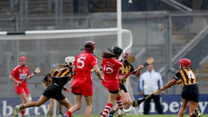 Julia White fires over the winner for Cork