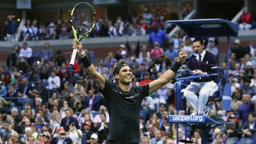Rafa Nadal celebrates his US Open success