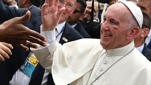 "Pope Francis spoke of ""the catastrophic humanitarian and environmental effects of any employment of nuclear devices"""