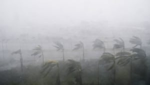 Thew National Hurricane Center said that hurricane-fore winds extended across portions of central Florida