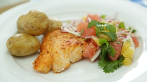 Baked Cod with Citrus Salad: OT