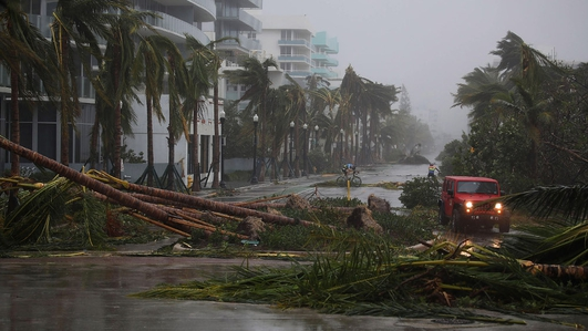 Irma downgraded but millions lose their homes