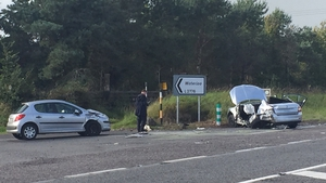 The scene of the crash on the Limerick to Cork road in 2017