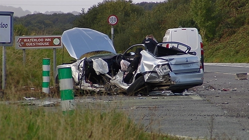 A man and a woman died when their car was involved in a collision with a truck in Co Cork