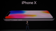 Apple chief executive Tim Cook at the launch of the iPhone X
