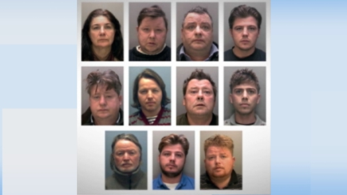 11 defendants were convicted of offences following a series of linked trials relating to modern slavery and fraud at Nottingham Crown Court