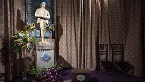 The centrepiece is an altar built around a 1.2m statute of Wilde